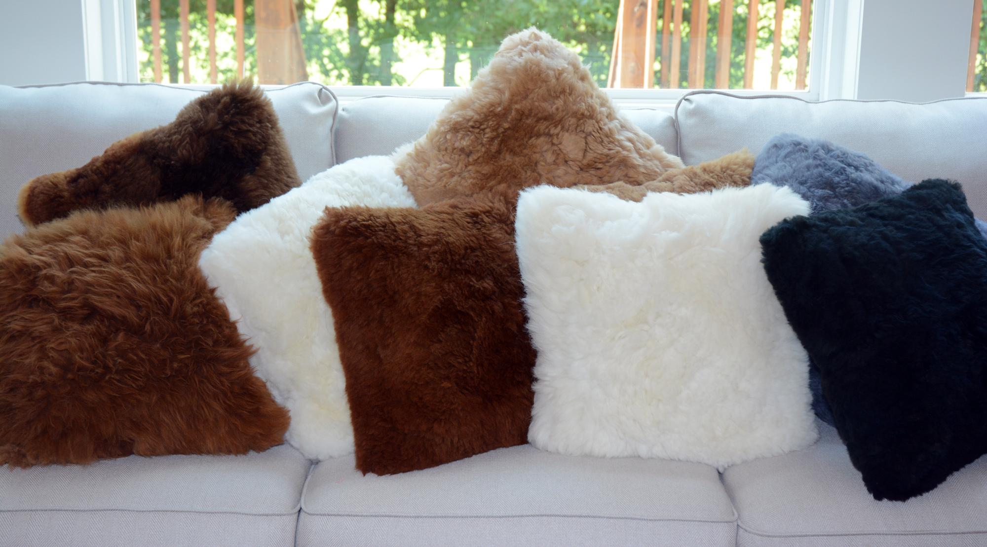 Alpaca Fur Pillows Small